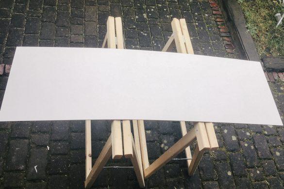 Die Reststücke werden auf Größe geschnitten
